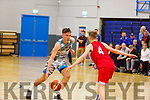 Garveys Rap Buivydas attempts to get up the court against James O'Leary of UCC in the U20 Basketball league in the Tralee Sports Complex on Sunday