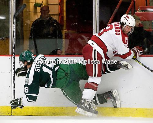 Joe Stejskal (Dartmouth - 18), Michael Del Mauro (Harvard - 13) - The Harvard University Crimson defeated the Dartmouth College Big Green 4-1 (EN) on Monday, January 18, 2010, at Bright Hockey Center in Cambridge, Massachusetts.