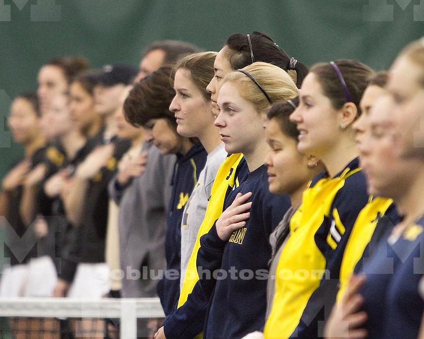 University of Michigan women's tennis 4-3 victory over Vanderbilt University at the Varsity Tennis Center in Ann Arbor, MI, on February 13, 2011.