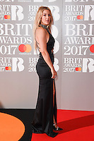 Ellie Goulding at the 2017 Brit Awards at the O2 Arena in London, UK. <br /> 22 February  2017<br /> Picture: Steve Vas/Featureflash/SilverHub 0208 004 5359 sales@silverhubmedia.com