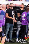 Real Madrid's player Karem Benzema and Kaylor Navas during the XXXVII Santiago Bernabeu Trophy in Madrid. August 16, Spain. 2016. (ALTERPHOTOS/BorjaB.Hojas)
