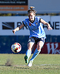 BRISBANE, AUSTRALIA - OCTOBER 30: Nicola Bolger of Sydney kicks the ball during the round 1 Westfield W-League match between the Brisbane Roar and Sydney FC at Spencer Park on November 5, 2016 in Brisbane, Australia. (Photo by Patrick Kearney/Brisbane Roar)