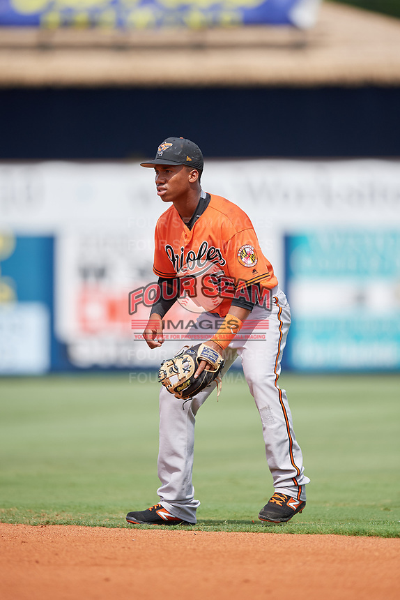 Baltimore Orioles Jean Carmona (52) during a Florida Instructional League game against the Tampa Bay Rays on October 1, 2018 at the Charlotte Sports Park in Port Charlotte, Florida.  (Mike Janes/Four Seam Images)