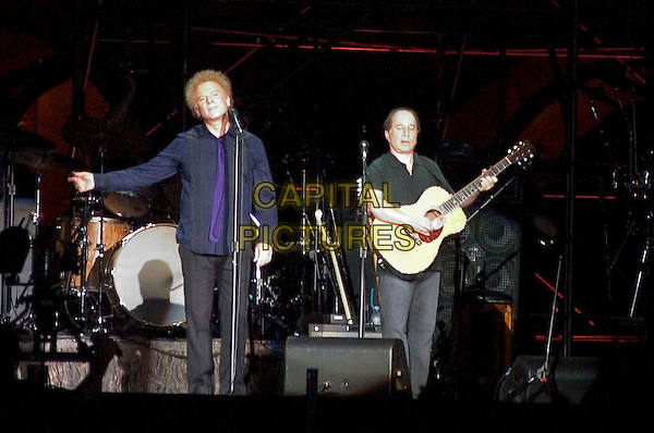 "SIMON & GARFUNKEL.""Old Friends Tour"" At The Colosseum, Rome.August 1st, 2004.Paul, Art, live, concert, music, stage, singing, guitar.www.capitalpictures.com.sales@capitalpictures.com.© Capital Pictures."
