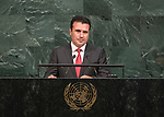 72 General Debate &ndash; 22 September <br /> <br /> by His Excellency Zoran Zaev, President of the Government of the former Yugoslav Republic of Macedonia