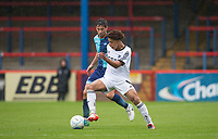 Luca Wightman of Aldershot Town turns Joe Jacobson of Wycombe Wanderers during the pre season friendly match between Aldershot Town and Wycombe Wanderers at the EBB Stadium, Aldershot, England on 22 July 2017. Photo by Andy Rowland.