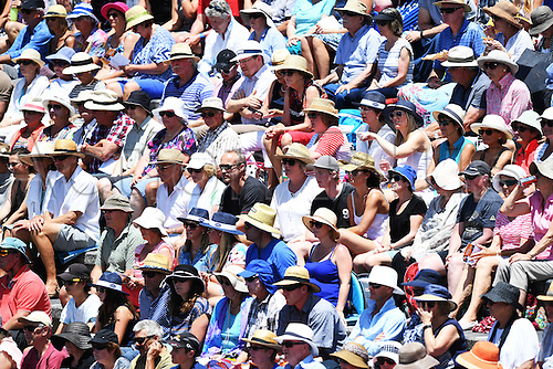 12.01.2017. ASB Tennis Centre, Auckland, New Zealand. ASB Classic Tennis, Day 13. Fans and supporters at the ASB Classic.