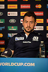 ENG - Newcastle upon Tyne, England, October 08: During the Media Conference of Team Scotland on October 8, 2015 at St. James Park in Newcastle upon Tyne, England. (Photo by Dirk Markgraf / www.265-images.com) *** Local caption *** Greig Laidlaw of Scotland
