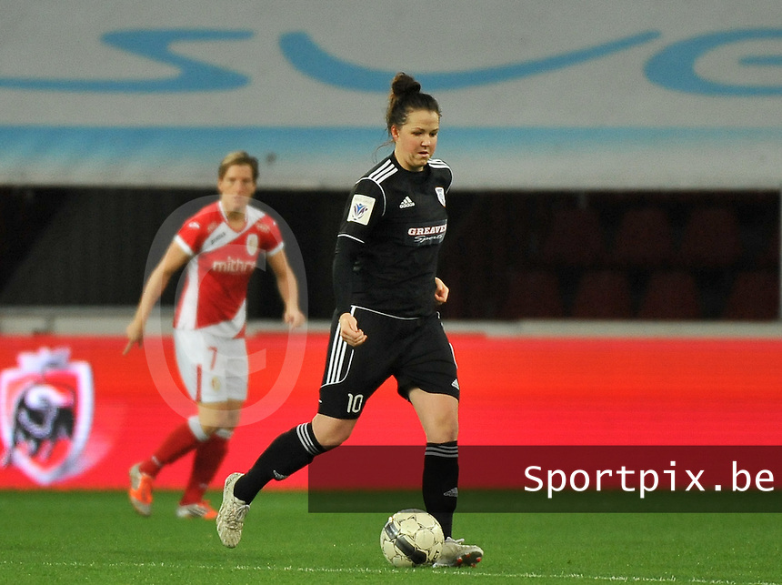 20131009 - LIEGE , BELGIUM : Glasgow Suzanne Lappin pictured during the female soccer match between STANDARD Femina de Liege and  GLASGOW City LFC , in the 1/16 final ( round of 32 ) first leg in the UEFA Women's Champions League 2013 in stade maurice dufrasne - Sclessin in Liege. Wednesday 9 October 2013. PHOTO DAVID CATRY