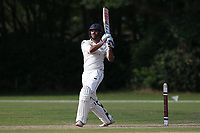 Kishen Velani hits 4 runs for Wanstead during Brentwood CC vs Wanstead and Snaresbrook CC, Essex Cricket League Cricket at The Old County Ground on 12th September 2020