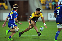 Julian Savea loses the ball forward during the Super Rugby match between the Hurricanes and Stormers at Westpac Stadium in Wellington, New Zealand on Friday, 5 May 2017. Photo: Dave Lintott / lintottphoto.co.nz