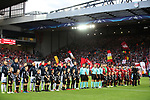 Hoffenheim and  Liverpool line up before the Champions League playoff round at the Anfield Stadium, Liverpool. Picture date 23rd August 2017. Picture credit should read: Lynne Cameron/Sportimage