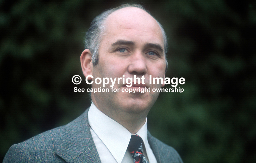 Inspector Don Milligan, RUC, Royal Ulster Constabulary, N Ireland, UK, chairman, Police Federation which represents officers up to chief inspector level. 197509190649DM1<br /> <br /> Copyright Image from Victor Patterson, 54 Dorchester Park, Belfast, UK, BT9 6RJ<br /> <br /> Tel: +44 28 9066 1296<br /> Mob: +44 7802 353836<br /> Voicemail +44 20 8816 7153<br /> Skype: victorpattersonbelfast<br /> Email: victor@victorpatterson.com<br /> Email: victorpatterson@me.com (back-up)<br /> <br /> IMPORTANT: If you wish to use this image or any other of my images please go to www.victorpatterson.com and click on the Terms &amp; Conditions. Then contact me by email or phone with the reference number(s) of the image(s) concerned.