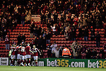 Middlesbrough 1 Preston North End 1, 22/01/2011. Riverside Stadium, Championship. Middlesbrough FC's celebrating the game's opening goal scored by their captain Matthew Bates against Preston North End in an Npower Championship fixture at the Riverside Stadium. The match ended in a one-all draw watched by a crowd of 16,157. Middlesbrough relocated from their former home at Ayresome Park in 1995. Photo by Colin McPherson.