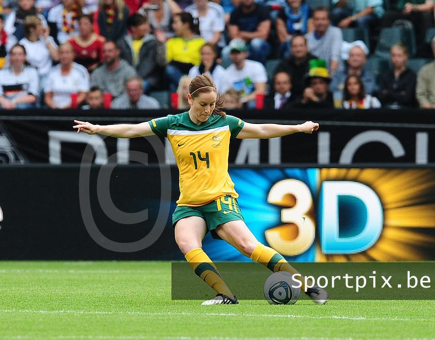 Fifa Women's World Cup Germany 2011 : Brazil - Australia  at Borussia - Park in Munchengladbach : Collette McCallum.foto DAVID CATRY / Vrouwenteam.be