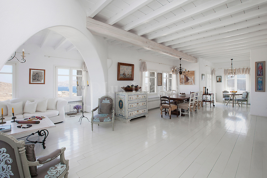 cycladic bright living room