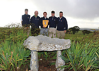 The Galway Team with the Connacht Pennant after winning the Connacht Final of the AIG Barton Shield at Galway Bay Golf Club, Galway, Co Galway. 11/08/2017<br /> <br /> Luke O'Neill, Joe Lyons, Ronan Mullarney, Liam Power and Gerry Cox.<br /> <br /> Picture: Golffile | Thos Caffrey<br /> <br /> All photo usage must carry mandatory copyright credit     (&copy; Golffile | Thos Caffrey)