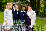 Pictured at the Presentation Secondary school, Tralee, graduation on Friday were Front l-r Chrissie Kelly Deputy Principal,Polly Gill and Increase Akinyemi head girls with  Sheila Pontillo Principal Presentation Secondary School