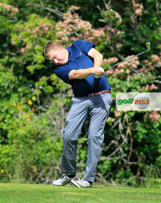 Ciaran Campbell (Carton House) on the 2nd tee during Round 1 of the Irish Mid-Amateur Open Championship at New Forest on Saturday 20th June 2015.<br /> Picture:  Thos Caffrey / www.golffile.ie