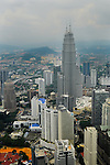 The skyline of Kuala Lumpur, the capital city of Malaysia and one of the 50 most populous cities in the world.