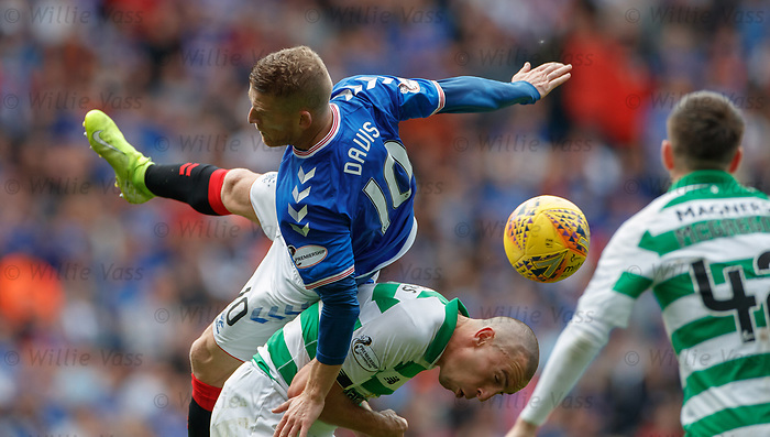 01.09.2019 Rangers v Celtic: Steven Davis and Scott Brown