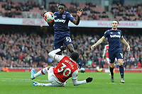 Edward Nketiah of Arsenal FC claims for a penalty during Arsenal vs West Ham United, Premier League Football at the Emirates Stadium on 7th March 2020