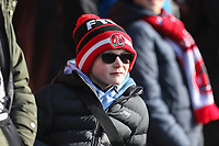 A young Fleetwood Town fan looks on during the Sky Bet League 1 match between Fleetwood Town and MK Dons at Highbury Stadium, Fleetwood, England on 24 February 2018. Photo by David Horn / PRiME Media Images