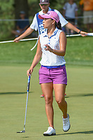 I.K. Kim (KOR) after sinking her putt on 1 during round 4 of the 2018 KPMG Women's PGA Championship, Kemper Lakes Golf Club, at Kildeer, Illinois, USA. 7/1/2018.<br /> Picture: Golffile | Ken Murray<br /> <br /> All photo usage must carry mandatory copyright credit (&copy; Golffile | Ken Murray)