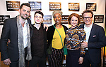 Alex Price, Anthony Boyle, Noma Dumezweni, Poppy Miller and Jamie Parker attends the 2018 New York Theatre Workshop Gala at the The Altman Building on April 16, 2018 in New York City