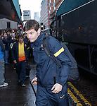 Tito Vilanova arrives at Barcelona's city centre hotel