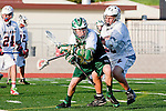 Palos Verdes, CA 03/23/10 - Scott MacDonald (PV # 3) and Tyler Gagnon (MC # 25) in action during the Mira Costa-Palos Verdes Junior Varsity game at Palos Verdes High School, Palos Verdes defeated Mira Costa.