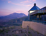 Mount Saint Helens National Volcanic Monument, WA<br /> Coldwater Ridge  Visitor's Center Mt. St. Helens at dusk