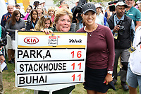 Annie Park (USA)  poses with the score sign after finishing the ShopRite LPGA Classic presented by Acer, Seaview Bay Club, Galloway, New Jersey, USA. 6/10/18.<br /> Picture: Golffile | Brian Spurlock<br /> <br /> <br /> All photo usage must carry mandatory copyright credit (&copy; Golffile | Brian Spurlock)