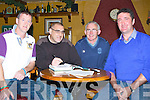 DISCUSSION: The preview of the County Final was discussed by Martin Trench, Jimmy Darcy, Tadgh O'Halloran and Noel Browne,in The Abbey tavern, Ardfert on Friday evening.