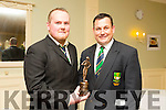 Aidan Mulvihill Incoming President for 2015 and Andy Smith Outgoing President at the Listowel RFC Social & Awards night in the Listowel Arms hotel on Saturday