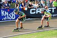 INLINE-SKATEN: HAULERWIJK: Skeelervereniging De Draai, KPN NK Inline-Skaten Baan, 19-05-2012, Manon Kamminga (#88), Marita Hut (#26), ©foto Martin de Jong