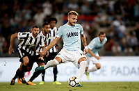 Calcio, Football - Juventus vs Lazio Italian Super Cup Final  <br /> Lazio's Ciro Immobile kicks a penalty during the Italian Super Cup Final football match between Juventus and Lazio at Rome's Olympic stadium, on August 13, 2017.<br /> UPDATE IMAGES PRESS/Isabella Bonotto