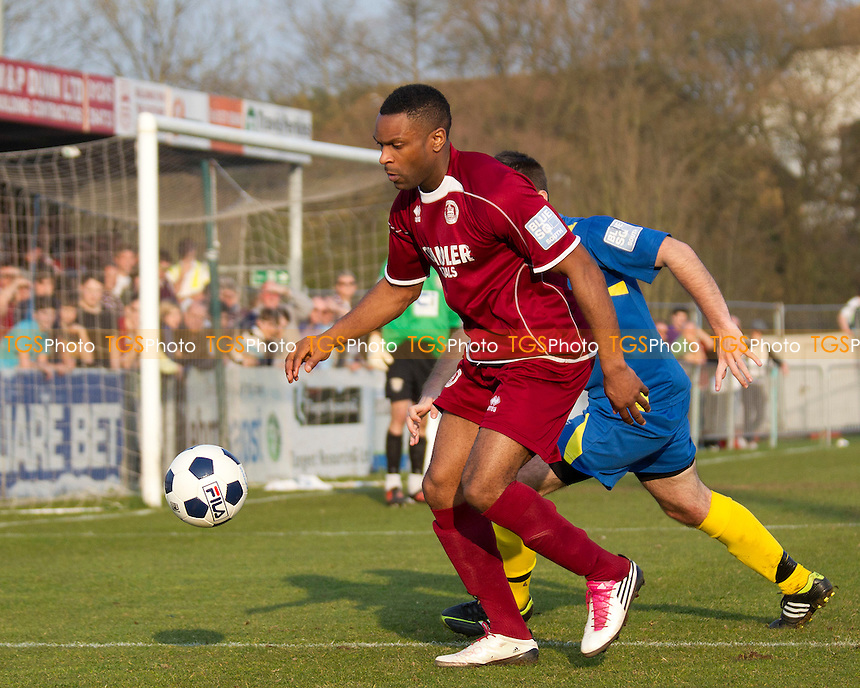 Kezie Ibe of Chelmsford City - Chelmsford City vs Basingstoke Town - Blue Square Conference South Football at Melbourne Park Stadium, Chelmsford - 24/03/12 - MANDATORY CREDIT: Ray Lawrence/TGSPHOTO - Self billing applies where appropriate - 0845 094 6026 - contact@tgsphoto.co.uk - NO UNPAID USE.