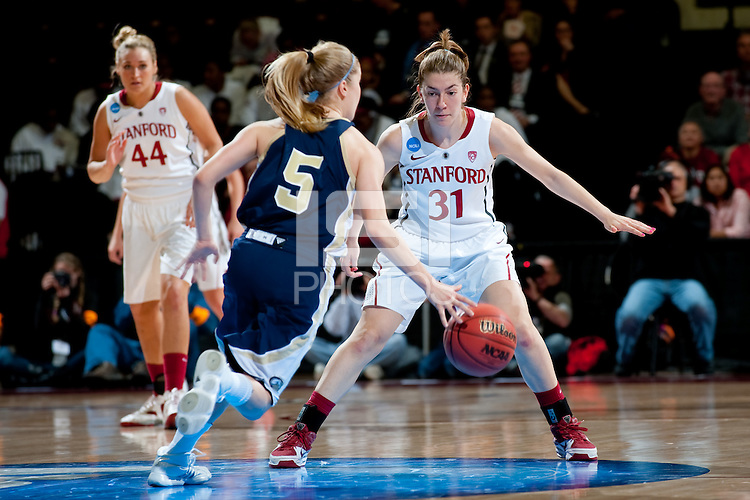 STANFORD, CA - MARCH 19, 2011: Toni Kokenis at Maples Pavilion, March 19, 2010 in Stanford, California.