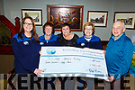 John O'Sullivan of the Munster Bar presents a cheque to The Recovery Haven in the Munster Bar on Thursday night last. L-r Christine McAuliffe, Philomena Stack, Tina Cunningham, Maureen O'Brien and John O'Sullivan.
