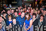 John McGillycuddy,Beaufort and Edwina Evans,Keel(front centre)had a fab night celebrating their engagement in Kingstons bar,Killorglin last Saturday night along with many friends and family.