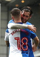 Blackburn Rovers' Danny Graham and Blackburn Rovers' Adam Armstrong<br /> <br /> Photographer Rachel Holborn/CameraSport<br /> <br /> The EFL Sky Bet League One - Blackburn Rovers v Blackpool - Saturday 10th March 2018 - Ewood Park - Blackburn<br /> <br /> World Copyright &copy; 2018 CameraSport. All rights reserved. 43 Linden Ave. Countesthorpe. Leicester. England. LE8 5PG - Tel: +44 (0) 116 277 4147 - admin@camerasport.com - www.camerasport.com