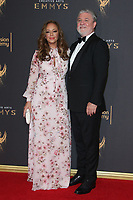 LOS ANGELES, CA - SEPTEMBER 09: Leah Remini and Mike Rinder at the 2017 Creative Arts Emmy Awards at Microsoft Theater on September 9, 2017 in Los Angeles, California. C