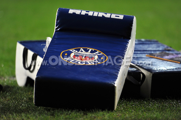 A general view of Bath Rugby tackle shields. European Rugby Champions Cup match, between Wasps and Bath Rugby on December 13, 2015 at the Ricoh Arena in Coventry, England. Photo by: Patrick Khachfe / Onside Images