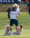 11.06.2017; Westonbirt, UK: Prince William<br /> participated in the Maserati Royal Charity Polo Trophy in aid of two charities that The Duke supports as Patron: Child Bereavement UK and Fields in Trust.<br /> Picture shows: Mike Tindal entertaining his nieces 6-year-old Savannah and 5-year-old, Isla Phillips.<br /> Mandatory Photo Credit: &copy;Francis Dias/NEWSPIX INTERNATIONAL<br /> <br /> IMMEDIATE CONFIRMATION OF USAGE REQUIRED:<br /> Newspix International, 31 Chinnery Hill, Bishop's Stortford, ENGLAND CM23 3PS<br /> Tel:+441279 324672  ; Fax: +441279656877<br /> Mobile:  07775681153<br /> e-mail: info@newspixinternational.co.uk<br /> Usage Implies Acceptance of OUr Terms &amp; Conditions<br /> Please refer to usage terms. All Fees Payable To Newspix International