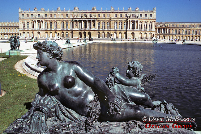 Versailles & Water Parterre,.Surrounded By Bronze Statues Cast By The Kellers From 1683 And 1690