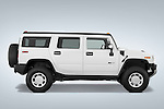 Passenger side profile view of a 2008 Hummer H2 SUV