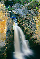 McNallie Creek Falls on the Waterfalls Route (Highway)  (Mackenzie Highway)<br /> <br /> Northwest Territories<br /> Canada
