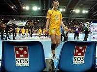 Handball Frauen / Damen  / women 1. Bundesliga - DHB - HC Leipzig : Frankfurter HC - im Bild: Louise Lyksborg traurig. Porträt . Foto: Norman Rembarz .