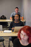 Gretchen Bunde's WRIT 102 class in Lamar.  Photo by Kevin Bain/University Communications Photography